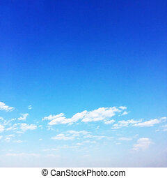 Fantastic soft white cloud against blue sky background, soft focus