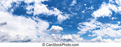 Fantastic soft white cloud against blue sky