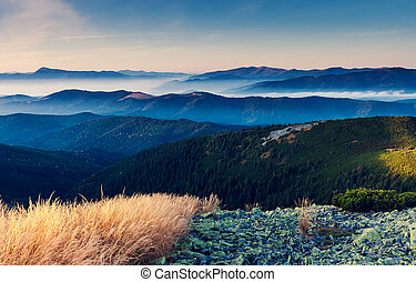 mountain landscape - Fantastic sunny day is in mountain...
