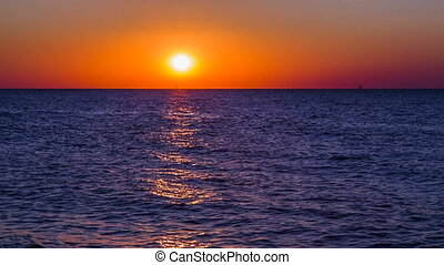 Fantastic Sunset Above Black Sea At Tarkhankut