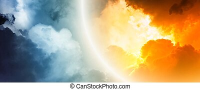 Fantastic sunset - Fantastic background - bright light from...