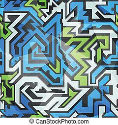 fantastic technology seamless pattern