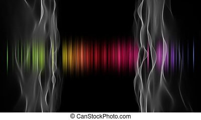 Fantastic video animation with color changing stripes and...