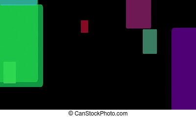 Fantastic video animation with rectangle objects in motion, loop HD 1080p