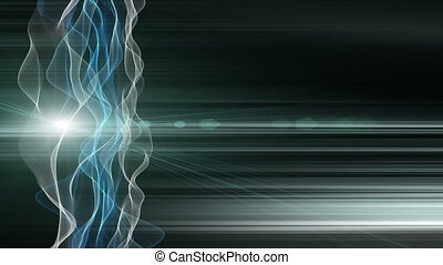 Fantastic video animation with wave object in motion and...
