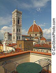 fantastic view of florentine cathed