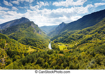 canyon - Fantastic view Tara river gorge - is the second ...
