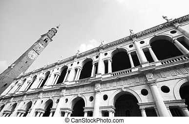 fantastic white palladian basilica in Vicenza italy - high...