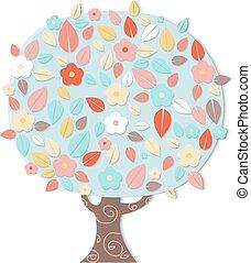 fantastický, strom