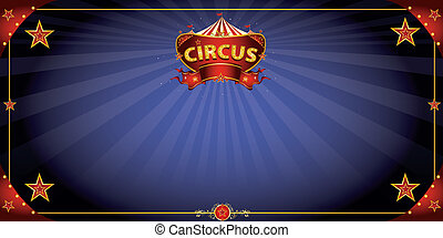 fantastico, circo, cartolina auguri, notte