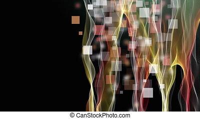fantastique, carrée, 4096x2304, objet, vague, mouvement, fond, vidéo, 4k, animation, boucle