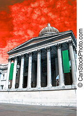 fantastique, carrée, effect., galerie nationale, couleurs, royaume-uni, trafalgar, londres