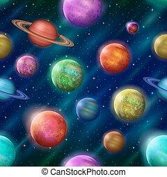 fantastique, fond, seamless, espace