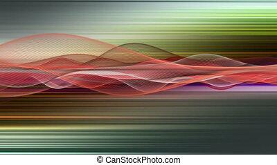 fantastique, lent, particule, 4096x2304, objet, vague, mouvement, fond, vidéo, raie, animation, boucle, 4k
