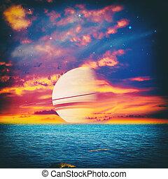 fantastique, univers, ton, conception, parallèle, paysage