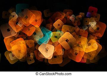 fantastisch, abstract, plein, achtergrond, ontwerp, illustratie