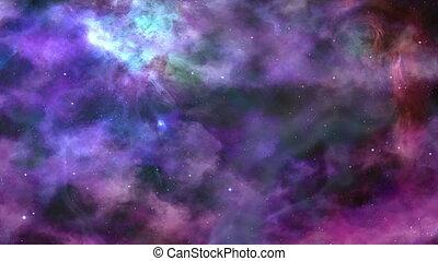 fantastisch, blauwe-viooltje, nebula, achtergrond, ruimte