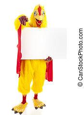 fantastisch, chicken, -, boodschap, voor u