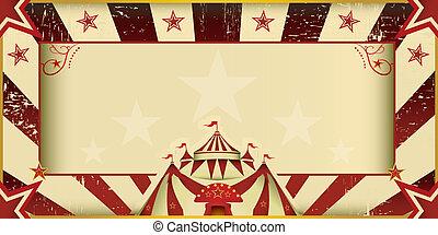 fantastisch, circus, grunge, uitnodiging