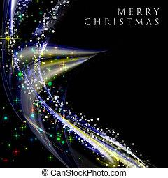 fantastisch, kerstmis, golf, ontwerp, met, snowflakes, en,...