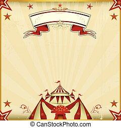 fantastisch, kleur, circus, plein, kaart