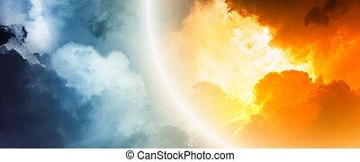 fantastisch, ondergaande zon