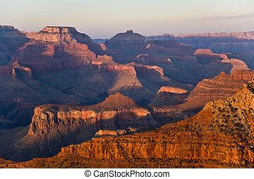 fantastisk, peka, mathers, kanjon, kant, storslagen, syd, ...