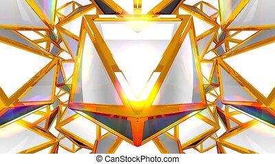 Fantasy 3D geometric shapes