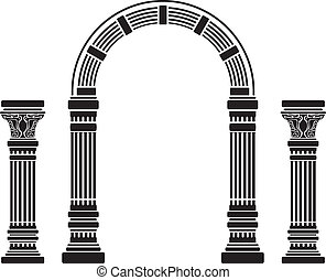fantasy arch and columns. stencil. fourth variant