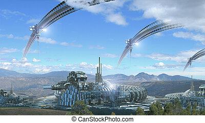 Fantasy architecture composite