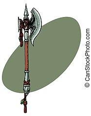 Fantasy Axe - Swords and Sorcery Fantasy style ornament