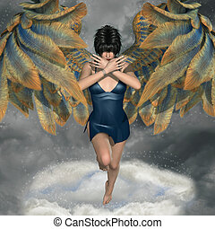 fantasy background with angel