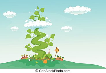 Fantasy Beanstalk Illustration