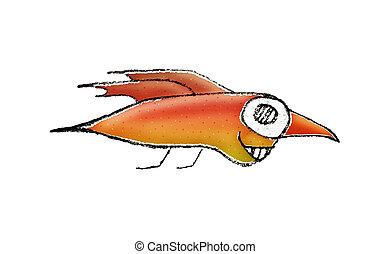 Fantasy Bird Character Illustration
