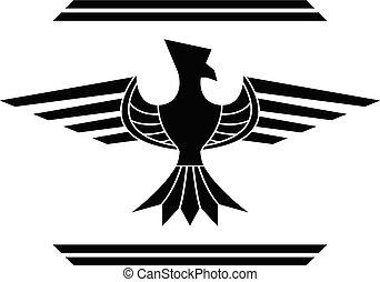 fantasy bird. stencil. second variant.eps