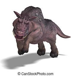 fantasy boar with huge tusks - 3D rendering of a fantasy...