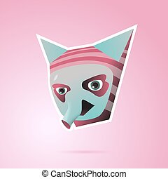 Fantasy Cartoon Character With Ears And Trunk Pink