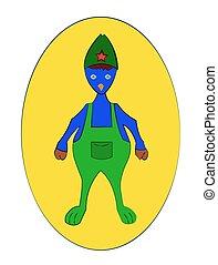 Fantasy Character Vector Illustration