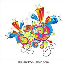 Fantasy Colorful Stars Background