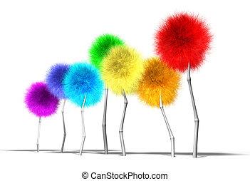 Fantasy Dandelion Trees Spectrum Perspective - A small crop...