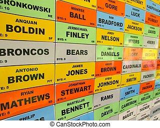 fantasy football draft board picks