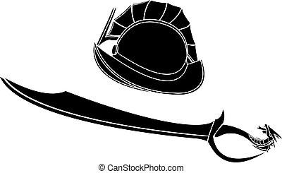fantasy gladiators helmet and sword