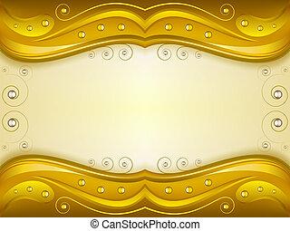 Fantasy golden background