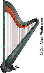 fantasy gothic harp