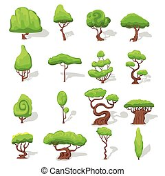 Fantasy Green Trees Set