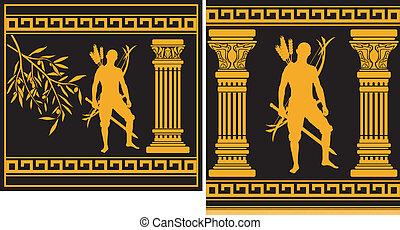 fantasy hellenic warrior