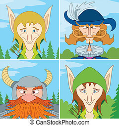Fantasy heroes, avatar, set