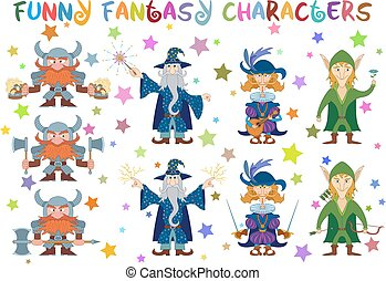 Fantasy heroes, set - Fantasy Heroes, Elf Archer with Bow...
