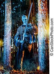 fantasy horror film - Zombie warrior in knightly armor ...