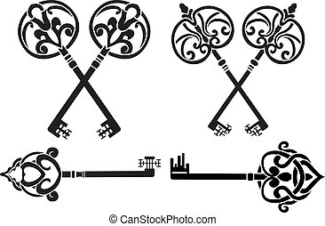 Fantasy key set stencil
